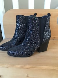 Sequin booties with chunky heel size 7 from The Bay Port Coquitlam
