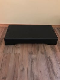 Aerobic step. Has removable feet to adjust size.