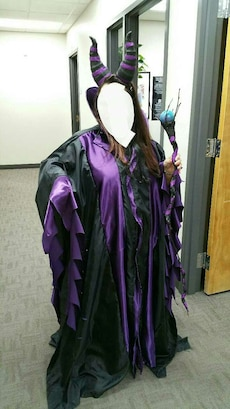 Homemade malificent costume one size fits all