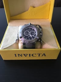 round silver Invicta chronograph watch with box Ankeny, 50021