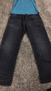 Brand new g star men's jeans and blue muscle shirt Edmonton, T6M 2L2