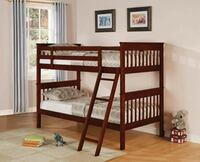 Twin Wood Bunk Beds With 2 mattress. New In Factory Packing. Delivered