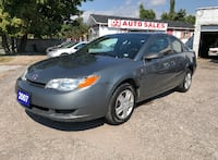 2007 Saturn Ion Certified/5 Speed Manual/Sunroof/Gas Saver Scarborough, ON M1J 3H5, Canada