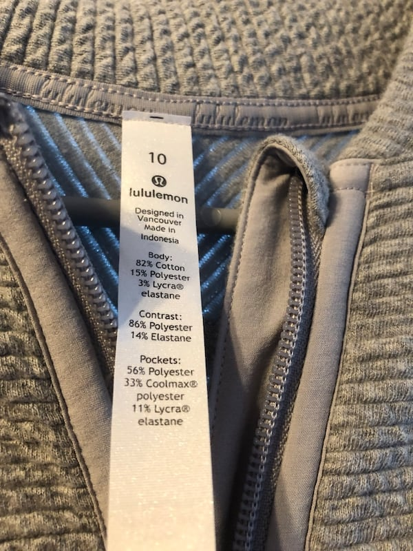 Lululemon women's zip up gray sweater. 1
