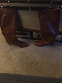 Tan Nine West Leather Boots Germantown