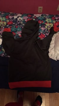 red and black hoodie New Madison, 45346