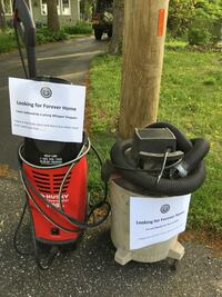 Free power washer (leaks) and free shop vac (old) first response