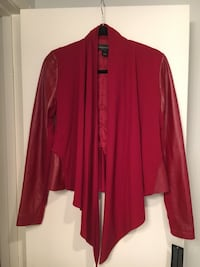 REDUCED: Red leather jacket size small. Never worn, brand new with tags. Dallas, 75248