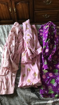 three brown, pink, and purple bathrobes St Paul, 55117