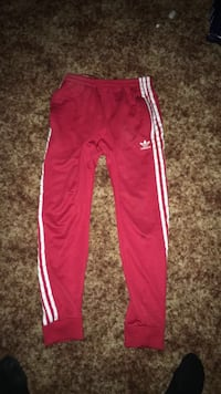 Red and white adidas track pants  Winnipeg, R2G