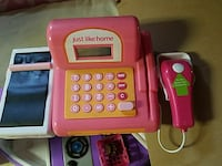 pink and white Just Like Home toy cash register Cedarhurst, 11516