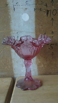 Vintage depression glass ruffled candy dish Round Rock, 78664