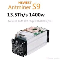 antminer s9 13.5th/s bitcoin miner Toronto, M3A 2R7