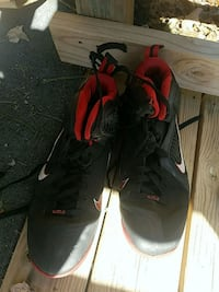 pair of black-and-red Air Jordan shoes Asheville