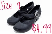 Women's shoes - black rubber pumps with staps New Orleans, 70119
