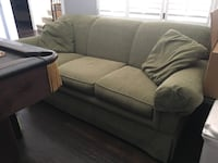 """Green couch 84"""" from Weirs in great condition - no stains or rips"""