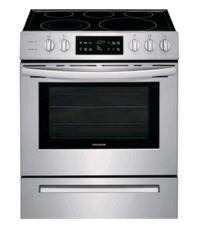"New frigidaire 30"" electric slide in range stainle"