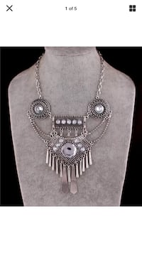 silver-colored necklace with pendant Grovetown, 30813