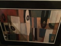 Brown and black abstract painting Bristow, 20136