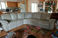 gray leather sectional  with queen sleeper Colorado Springs, 80905