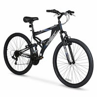 "27.5"" Hyper Bicycles Bear Mountain Full Suspension Men's Aluminum Mountain Bike"