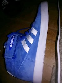 ADIDAS baby blue suede high tops