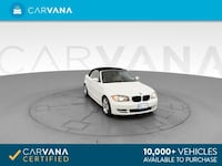 2009 BMW 1 Series Convertible 128i Convertible 2D WHITE