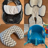 Car seat cover, insert, nursing pillow and booster chair Oshawa, L1K 2R9