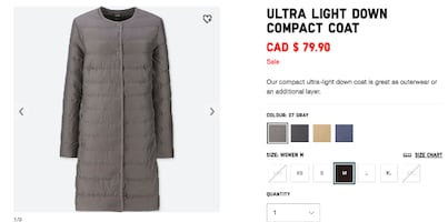 Uniqlo Ultra Light Down Compact Coat