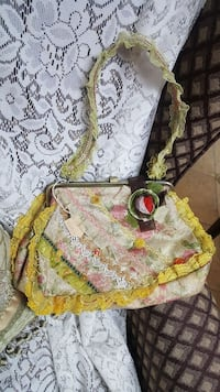 yellow and white floral tote bag