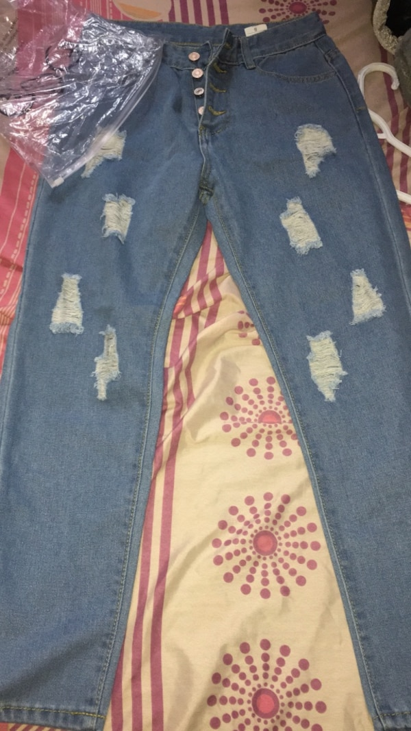 Women's Blue and white denim jeans