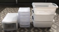 Lot of Sterilite Plastic Storage Organizer Containers / Stackable Baskets / Drawers Las Vegas, 89178