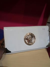 long white Versace leather wallet