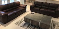 Genuine Leather Couches x 2 Toronto, M1T 1Y1