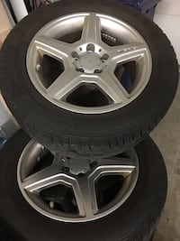 4 Winter tires with AMG mags