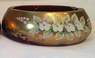 Bohemian bowl gold plated
