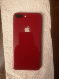 Unlocked iPhone 8Plus 64GB.  Product Red 543 km