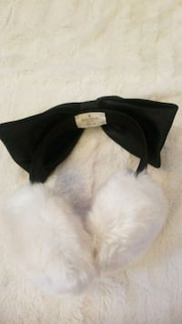 Fluffy Kate Spade earmuffs with black bow Douglas County