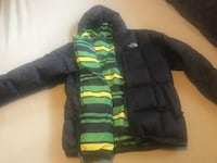 black and green zip-up bubble jacket West Bloomfield, 48324