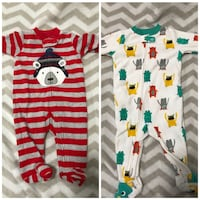 toddler's red and white full-zip footies collage El Centro, 92243