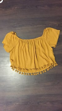 YELLOW CROP TOP SIZE M- new 3120 km