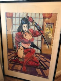Shi poster autographed by artist   Alexandria, 22307