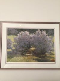 limited edition Lilac Print. Professionally matted and framed  Naples, 34120