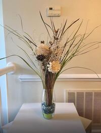 Decorative vase with faux flowers