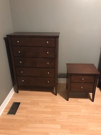 Wooden Dresser and side table