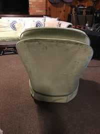 Pale sage green soft velvet feel sofa chair. Spins and is clean in excellent condition. Very comfy. No pets, no smokers. Fairhope, 36532