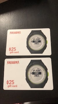 Running room gift cards $50 Langley, V2Y 1Z4