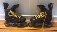 pair of black-and-yellow inline skates New Westminster, V3L 4P8