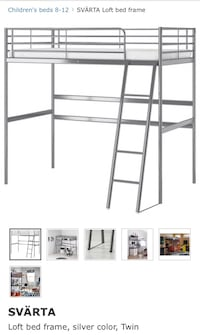 Ikea twin size bed loft, barely used Washington, 20017