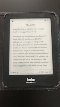 Kobo Glo, touch screen, wifi (with case & charger)